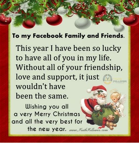 merry christmas and happy new year to my facebook family