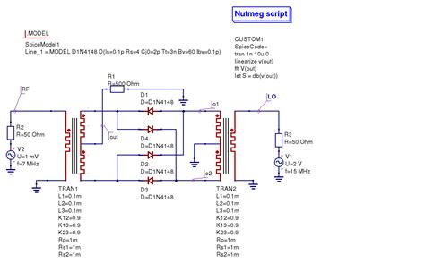 diode mixer circuit balanced diode mixer circuit 555 28 images chapter 5 more advanced circuit simulation