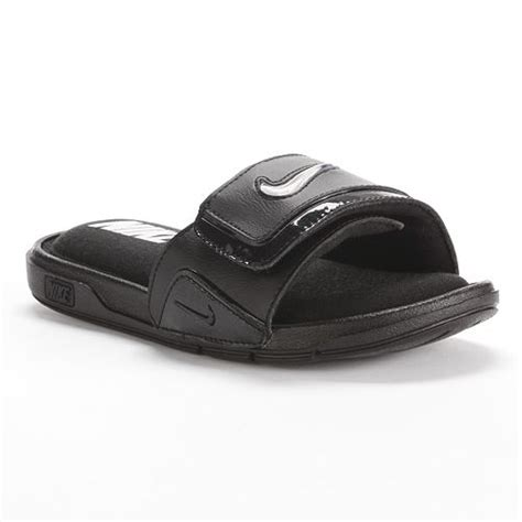 nike comfort slide 2 boys custom comfort slide sandals boys nike black shoes