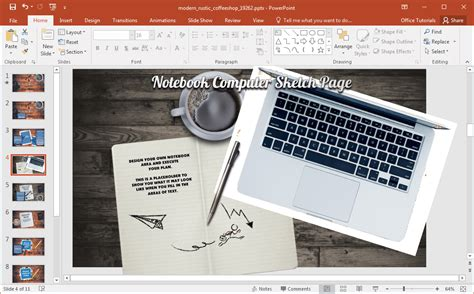 Animated Coffee Shop Template For Powerpoint Coffee Shop Template