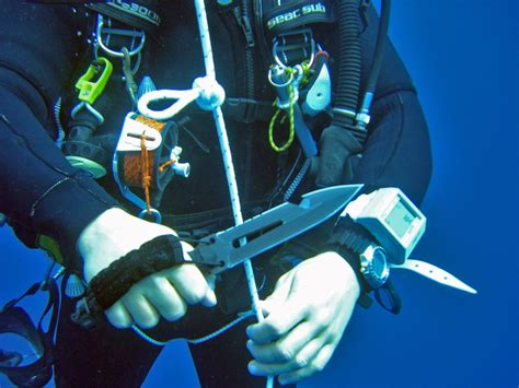 scuba diving knife diving knives are they necessary sports x
