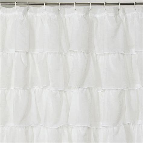 jcpenney extra long shower curtain layered voile shower curtain