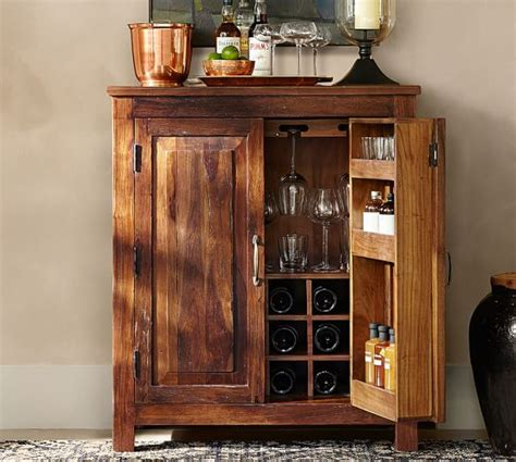 Hutch Cabinets Dining Room by Bowry Bar Cabinet Pottery Barn