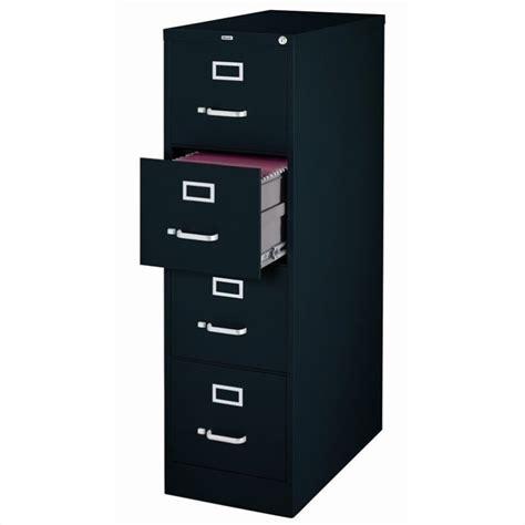 Black Filing Cabinet 4 Drawer Letter File Cabinet In Black 17892