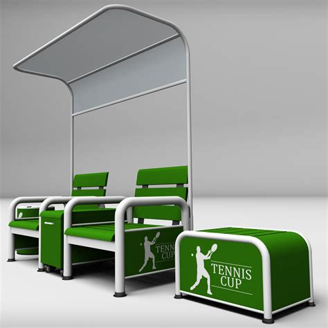 tennis benches for courts tennis court bench chair by kr3atura 3docean