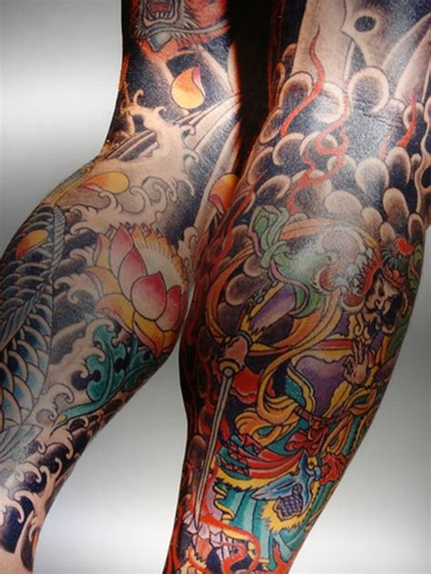 collection of 25 leg sleeve colorful tattoos for women