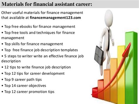 financial assistant description