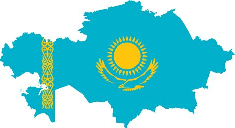flags of the world kazakhstan kazakhstan map flag