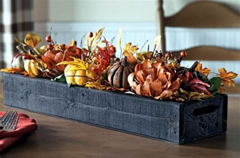 Kitchen Table Decorations Ideas rustic autumn table decoration wooden box with fruit and