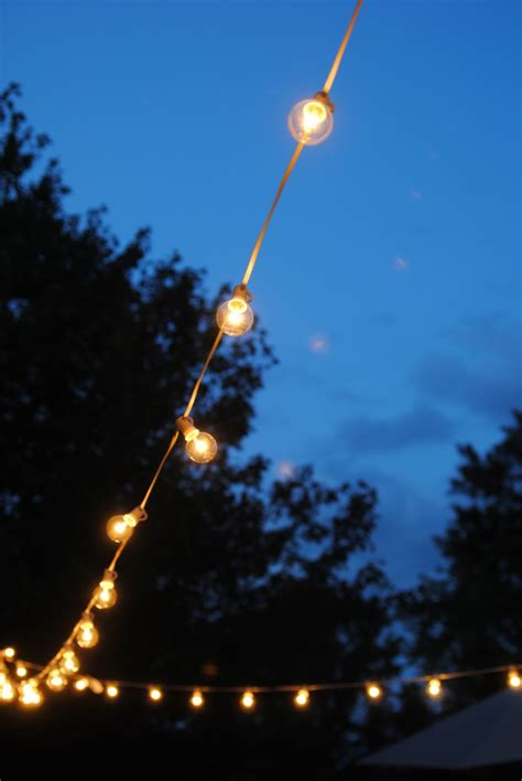 hang outdoor string lights  deck diaries part