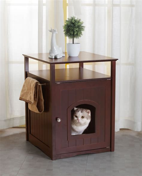 merry products cat litter box cover night stand pet