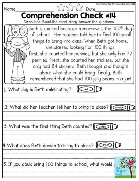 Reading Comprehension Worksheets 1st Grade by 25 Best Ideas About Grade Reading Comprehension On