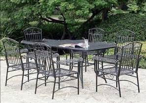 Metal Patio Table Set Furniture Custom Black Wrought Iron Patio Furniture
