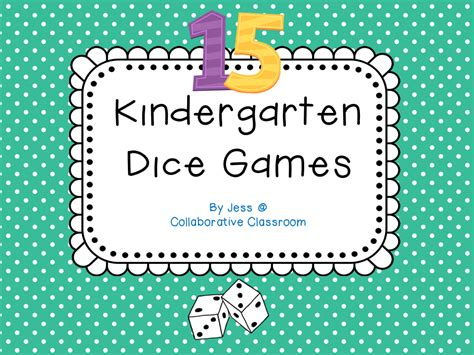 printable kindergarten dice games early years fun april 2013