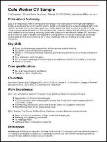 Cafe worker cv sample curriculum vitae builder the first step in every