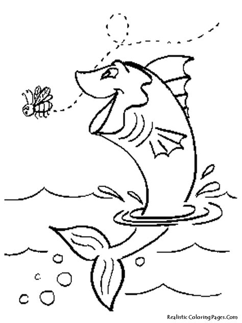 jumping fish coloring pages sea life coloring pages realistic coloring pages