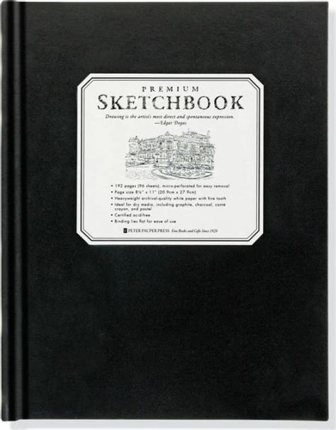 barnes and noble sketchbook premium black sketchbook large 8 5 quot x 11 quot 9781441310224