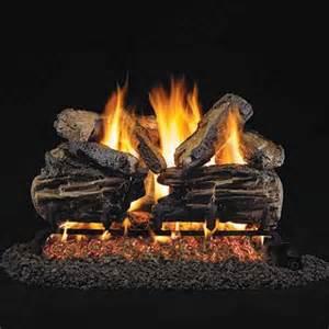 24 peterson real fyre vented charred split oak gas logs