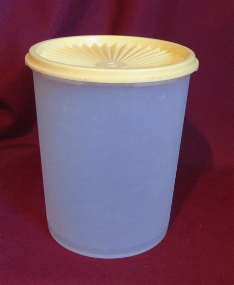 Tupperware Texture Canister Uk 24 L tupperware servalier canister vintage white with yellow lid 812 34 811 4 other