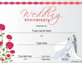 anniversary certificate template free certificate free award certificate templates no
