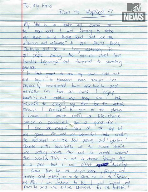 Pariss Letter To Fans by How Do You Mail A Letter Gucci Mane Pens Letter To