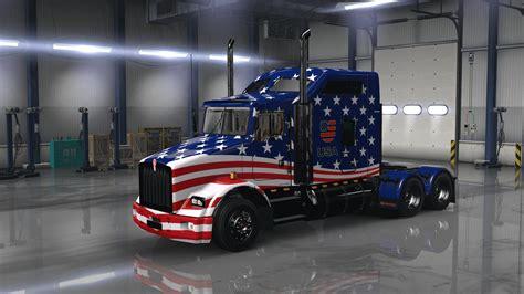 american flag truck usa flag combo pack ats mods american truck simulator mods