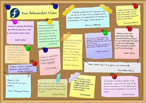 poster design notes nicu s foss n stuff ambassadors wall
