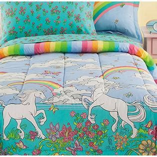 unicorn bedding twin fairy tale rainbows unicorns girls twin comforter set 6