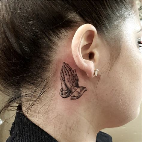 behind ear tattoos designs praying ear best ideas gallery