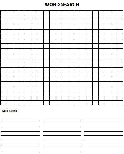 free word search template word search puzzle blank printables only free
