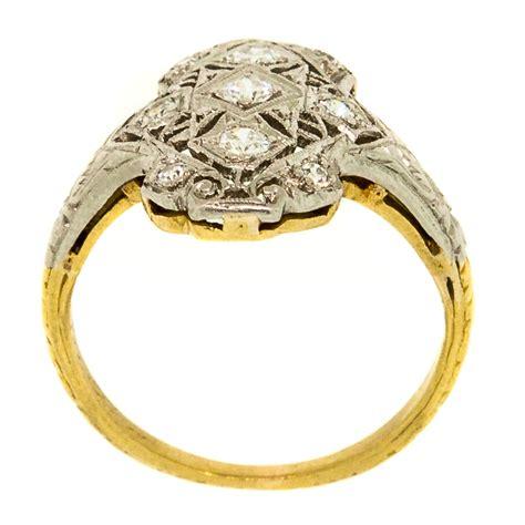 antique filigree three platinum gold ring claude