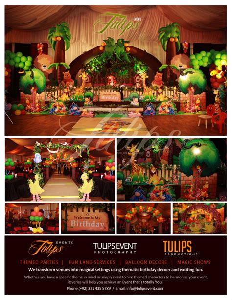 themed birthday party supplies online pakistan jungle party themed best events planner in pakistan