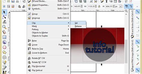 tutorial efek vektor efek powerclip di inkscape www infotutorial com