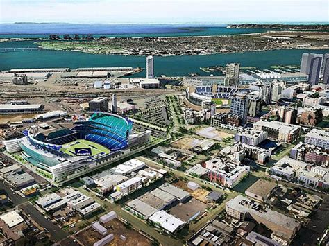 charger football live rendering proposed downtown san diego chargers football