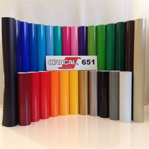 Sticker Oracal 651 Gloss Matte 12 quot oracal 651 adhesive vinyl craft hobby sign maker