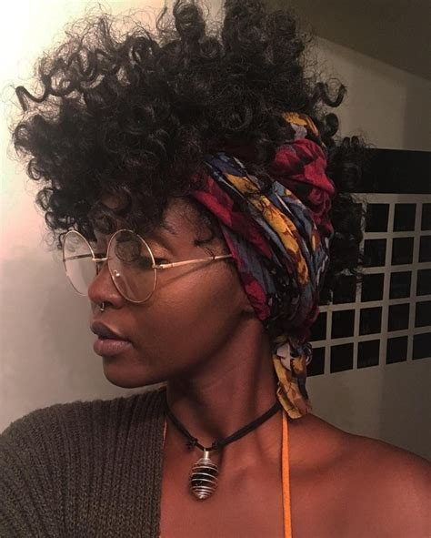 how to creat a short curly african american natural hair accessory headwraps glasses curly hair black