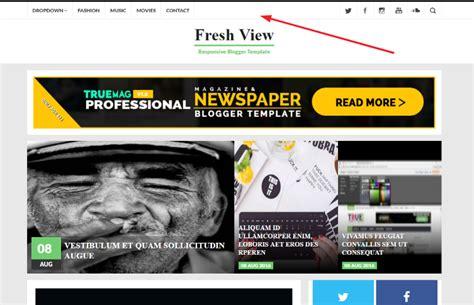membuat header blog responsive cara membuat top navigasi menu statis responsive di atas
