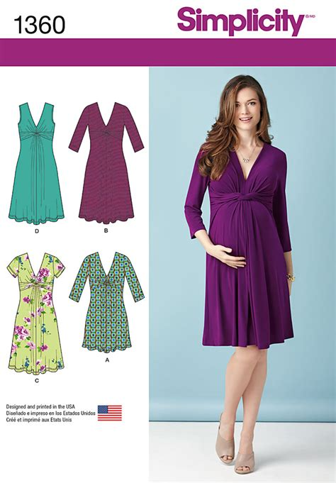 v shaped pattern in c diy maternity dress has flattering twist and gathered