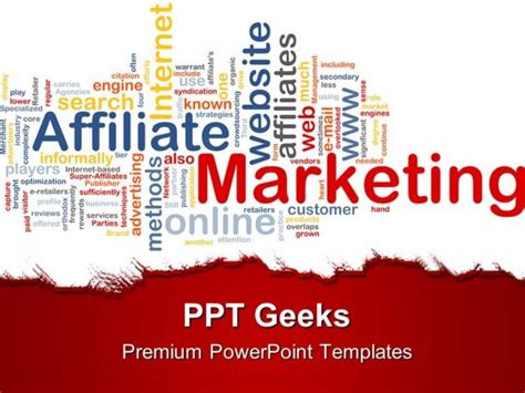 Affiliate Marketing Business Powerpoint Templates And Powerpoint Backgrounds 0411 Powerpoint Advertising Templates