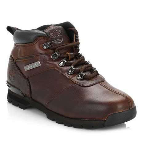 two boots timberland mens brown splitrock 2 boots