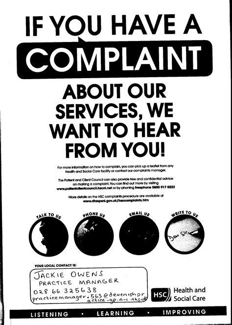 Devenish Practice - Complaints
