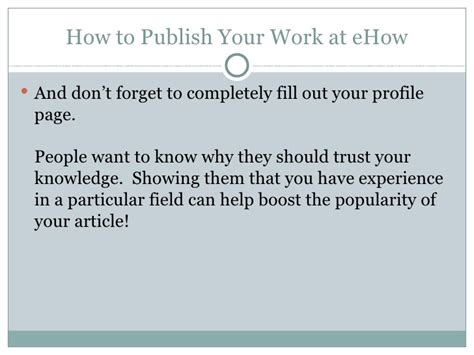 how to publish your how to publish your work at ehow