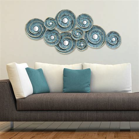 decorative waves metal wall decor stratton home decor