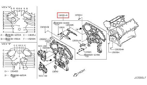 nissan 350z drawing nissan 350z rear timing cover imageresizertool com