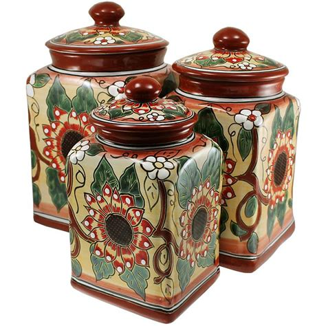 canisters kitchen decor talavera kitchen canisters collection talavera kitchen