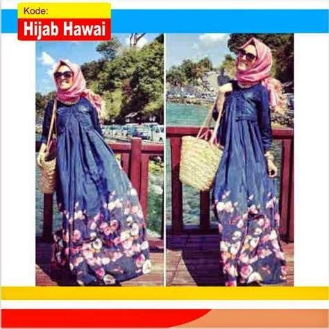 Dress Wanita Yuhu Maxi baju gamis wanita modern hawai koleksi terbaru distributor gamis modern terbaru murah