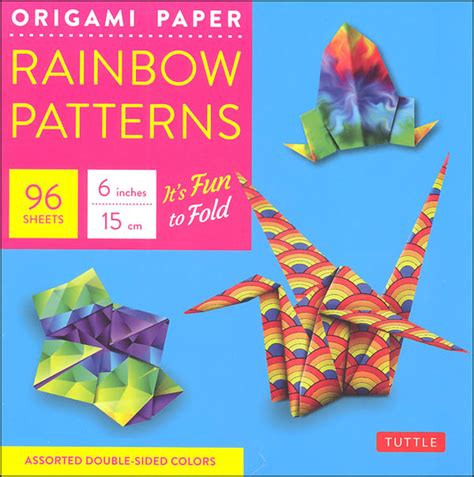 Origami Paper Supplies - origami paper rainbow patterns 065285 details
