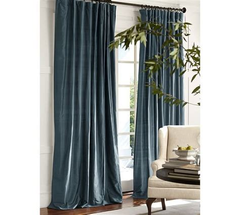 pottery barn curtain panels dupioni silk drape 50x96 pottery barn single width