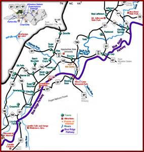 map of blue ridge area map blue ridge parkway map appalachian cultural museum