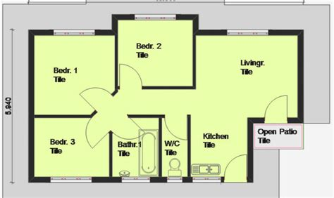 16 cool three roomed house plan house plans 47060